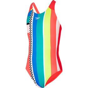 speedo Digital Placement Traje de Baño Pulseback Niñas, Multicolor